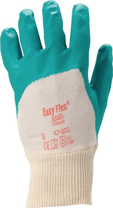 Handschoenen EN388 cat.II Easy Flex 47-200 mt.9 katoen met 3/4 nitril groen