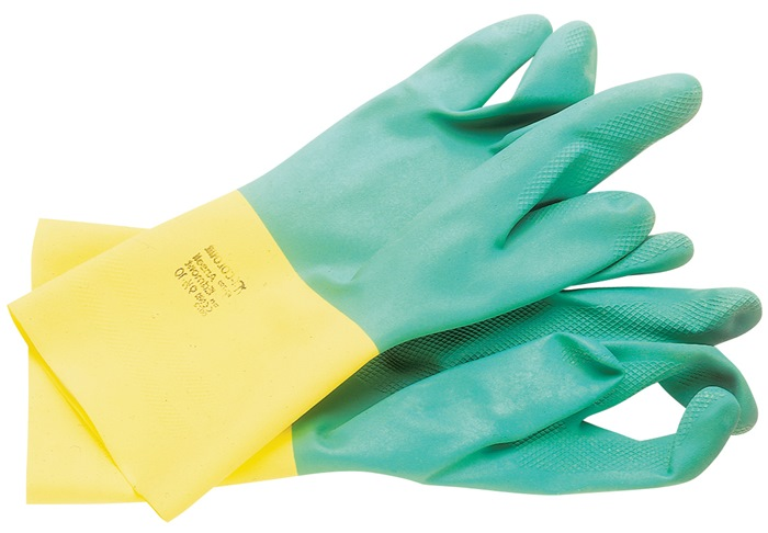 Handschoenen EN388/374/421 cat.III Bi-Colour 87-900 mt.8,5-9 kat. latex neopreen
