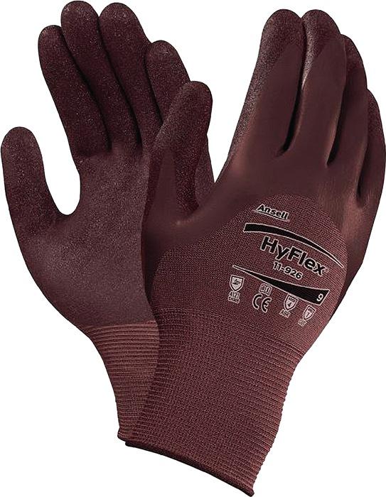 Handschoen HyFlex® 11-926 mt8 gebr.nylon neopreen/nitrilc. violet siliconenv.12p