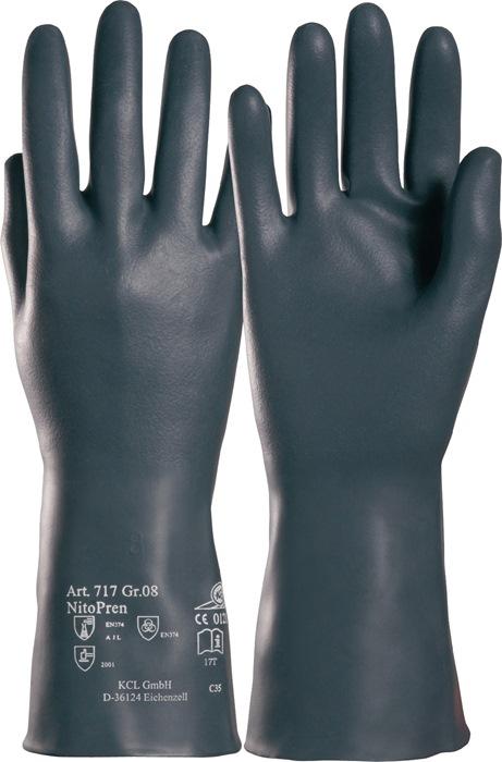 Handschoen Nitopren 717 mt.9 l310mm 2-laagssyst. nitril/chloropreen gevelour.