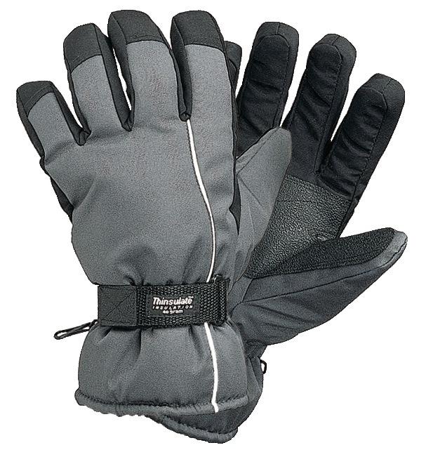 Skihandschoenen mt.L zwart met Thinsulaat waterafstotend