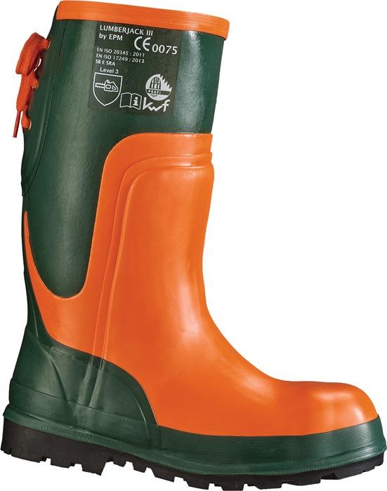 Bosbouwlaars EN20345 S2 Ulme snijbescherming kl. II mt.41 natuurrubber olijf