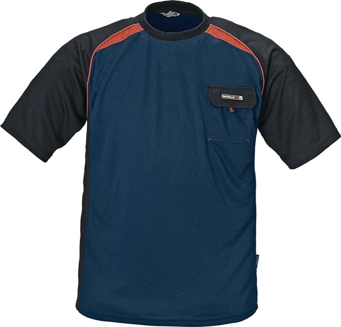 T-shirt TerraTrend mt.XL marine/zwart/rood 50%PES/50% Cool Dry TERRATREND