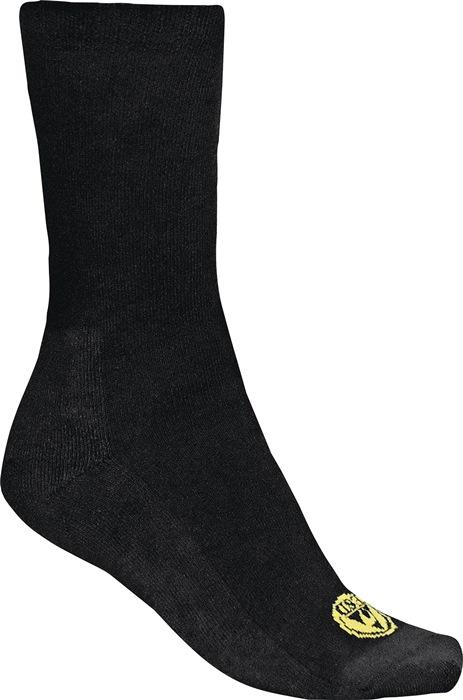 Sokken Basic-Socks 43-46 zwart elastische bandje 75%katoen 22%PES 3%EL