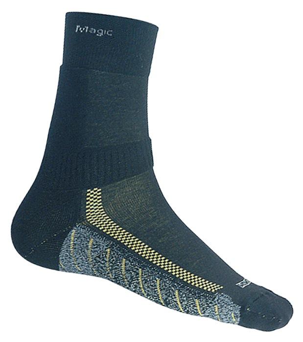 Funct. sok Magic mt.44-47 zwart kort m.Coolmax® extra brede comfortband