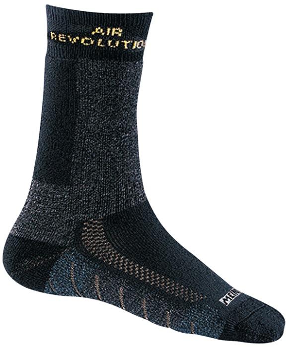 Funct. sok Revolution mt36-39 antraciet/geel lang m.Gore-Tex® zachte comfortband