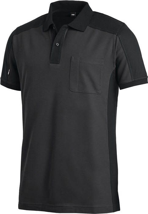 Poloshirt Konrad Kledingmaat M antraciet/zwart 60 % katoen, 40 % polyester FHB