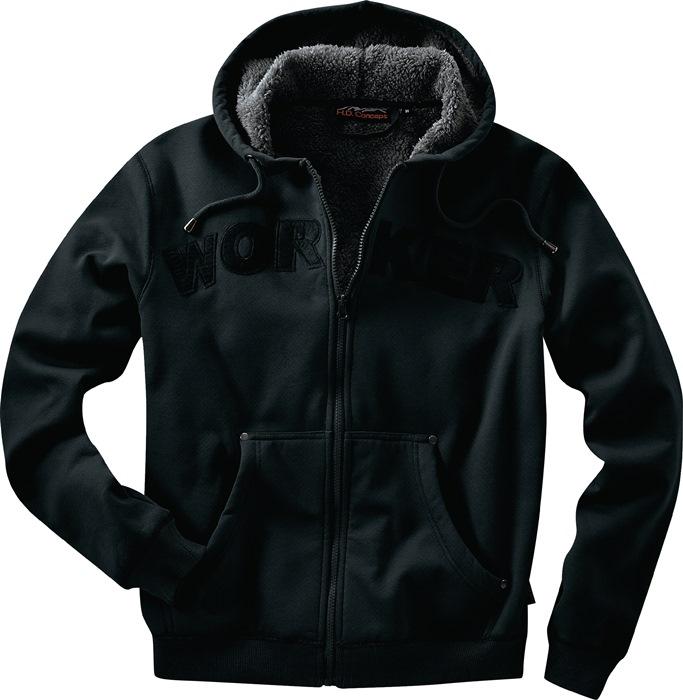 Capuchonjas workwear mt.XL zwart 100% katoen 1 stuk