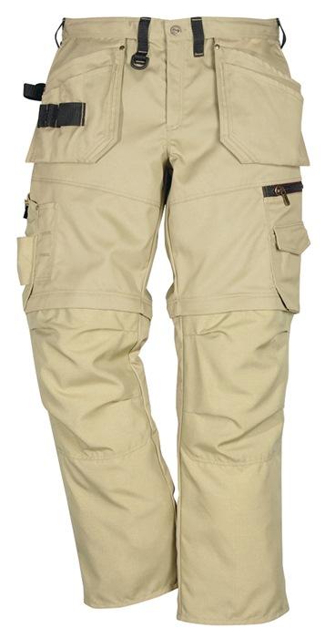 Zipp-off broek m.tailleband 242 PS25 mt.C54 kaki 65%PES/35%katoen