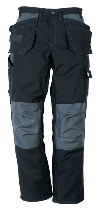 Funct. broek m.tailleband 288 PS25 mt.C52 zwart/grijs 65%PES/35%katoen