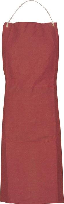 Zeildoekschort B.80cm L.100cm roodbruin 1 stuks