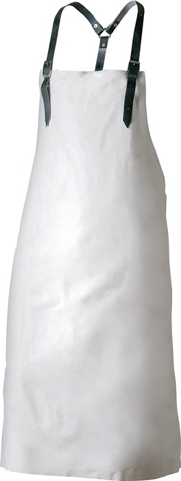 Schort met borststuk Breedte 80cm, lengte 100cm wit nerfleder 1 stuks