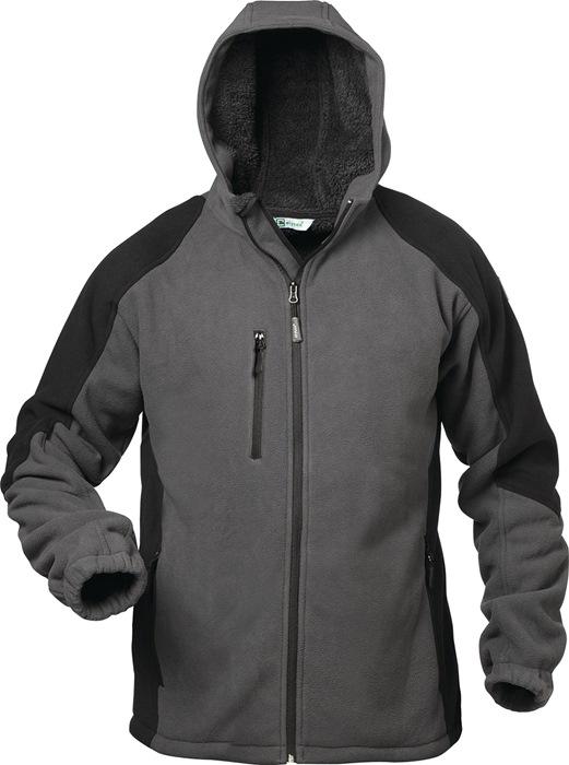 Fleecejack Tampere Kledingmaat XL grijs/zwart 100% polyester 1 stuk ELYSEE
