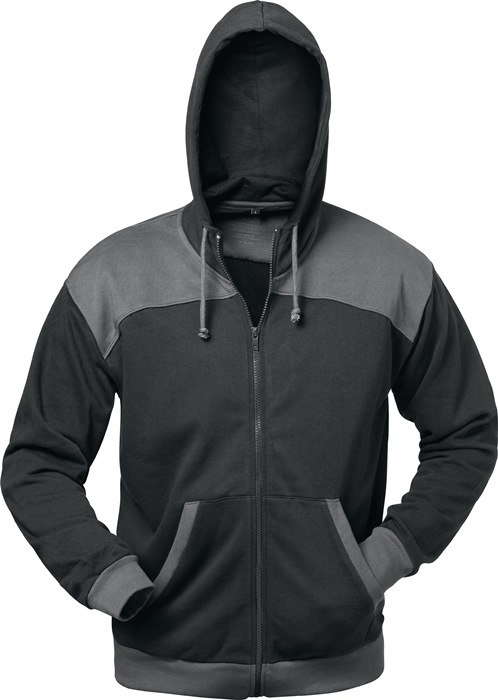 sweater Florenz mt.XL zwart/grijs 80% katoen/20% polyester 1 stuk ELYSEE