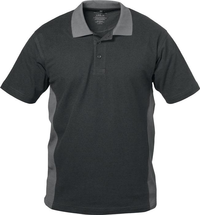 Poloshirt Sevilla Kledingmaat L zwart/grijs 100% katoen ELYSEE