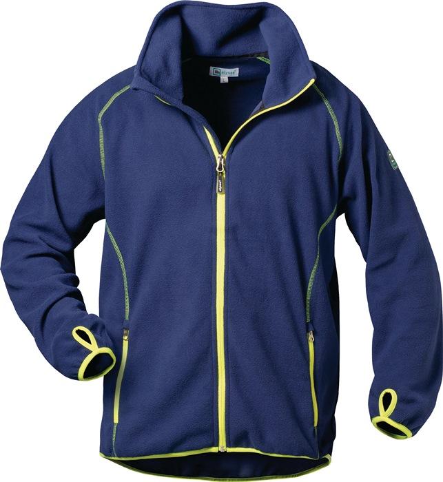 Fleecejack Brandon Kledingmaat L marine/geel 100% polyester 1 stuk Feldtmann