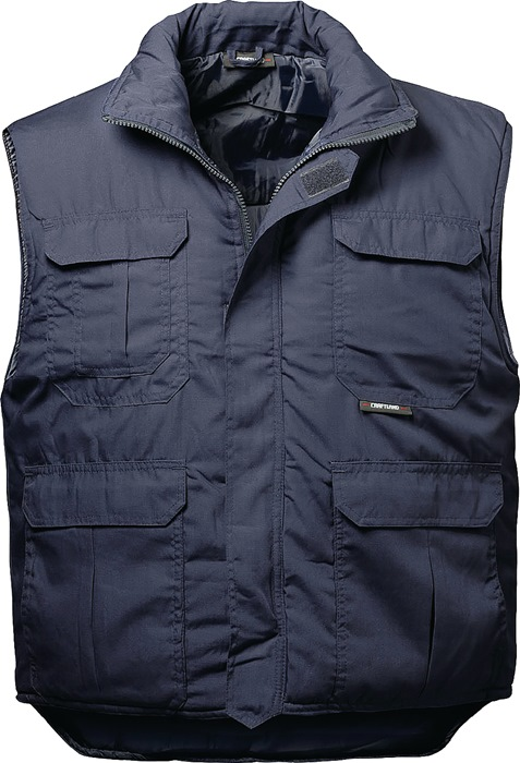 Truckervest Trucker mt.L blauw 65%PES/35%CO 1 stuk