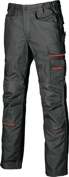 Broek Free EN 340-1 mt.54 zwart/carbon 60% katoen, 40% polyester 1 stuk U-POWER