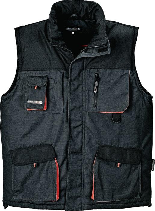 Bodywarmer TerraTrend mt.XXL donkergrijs/zwart/oranje 65%PES en 35%katoen
