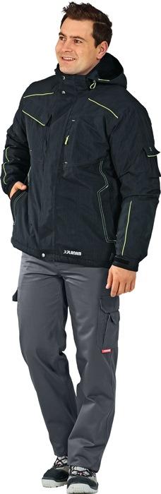 Winter Neon jack Neon mt.L grijs/groen bovenstof: 100% polyester 1 stuk Planam