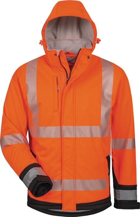 Veiligheidssoftshelljack Lukas EN 471 kl.3 EN340 mt.XXL oranje/zwart 100%PES