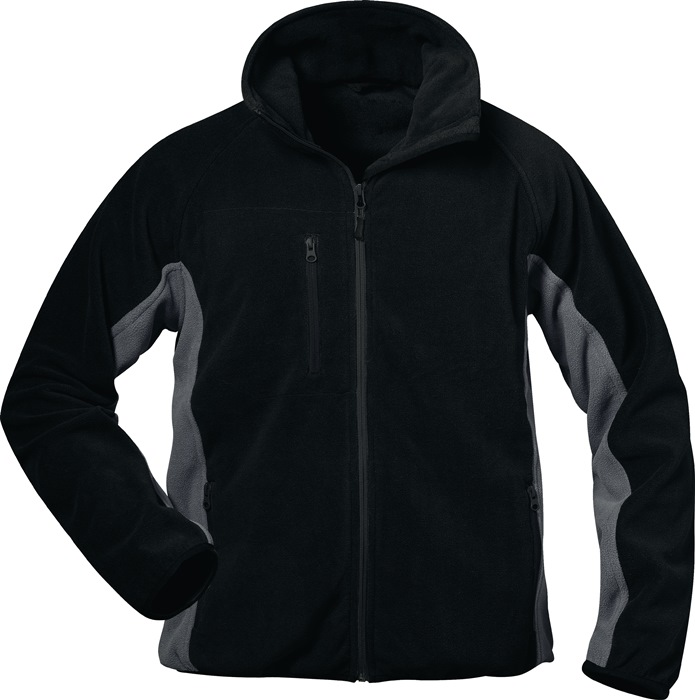 Fleecejack Adler Kledingmaat XL zwart/grijs 100% polyester 1 stuk ELYSEE