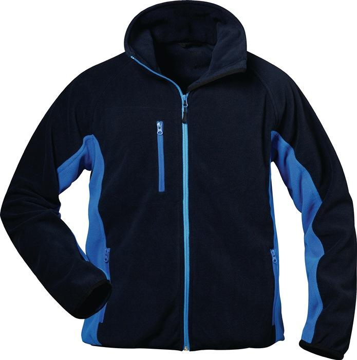Fleecejack Bussard Kledingmaat L marine/royal 100% polyester 1 stuk ELYSEE