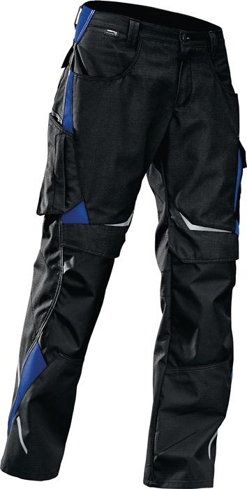 Pulsschlag broek m.taillebd. Form2324 mt54 zwart/kbl.blauw 65%PES/35%kat.