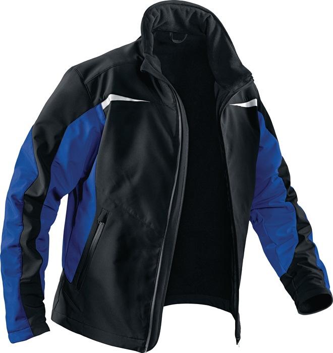 Softshell Weather Dress Form 1241 mt.XL zwart/kbl.blauw 96%PES 4%EL