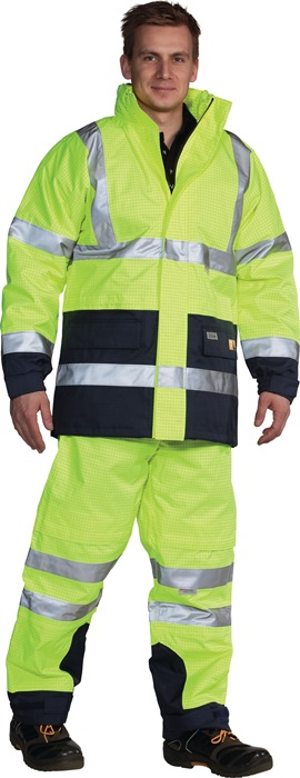 Veiligheidsjack mt.M geel/marine 5 in 1 PoratexPremium membr.