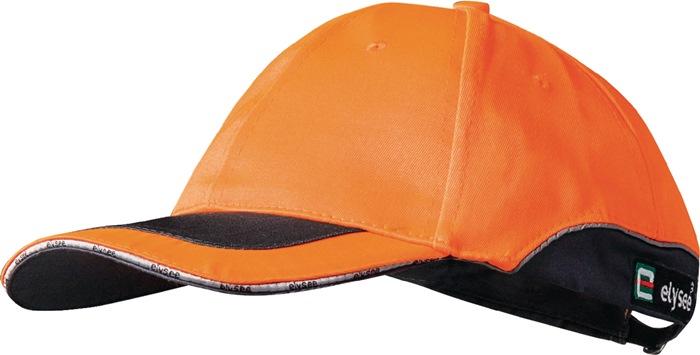 Veiligheidskap oranje hoofdomv.53-61cm 6dlg. hoofdd.m.ventilatieg.80%PES/20%kat.