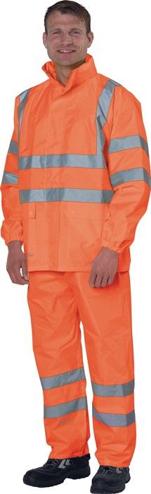 Regenbroek m.tailleband EN471 kl.2/EN343 mt.L oranje EN471 kl.2/EN343