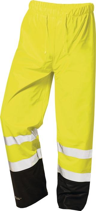 Veiligheids-PU-regenbroek Dirk mt.xL geel/zwart PU op PES-ondergr.,ca.190g/m2