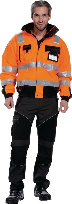 Veiligheidspilotenjack EN20471 kl. 3 EN343 mt.xL oranje/zwart 100%PES