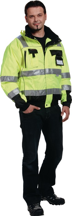 Veiligheidspilotenjack EN20471 kl. 3 EN343 mt.xXL geel/zwart 100%PES PREVENT
