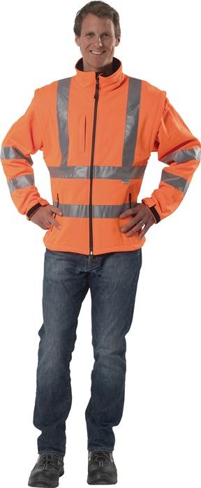 Veiligheidssoftshelljack EN20471 mt.M oranje 1 stuk PREVENT