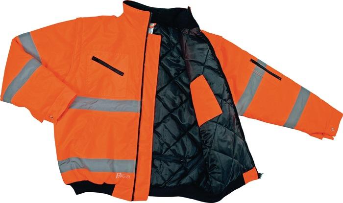 Veiligheidspilotenjack EN20471 kl.2 mt. M oranje EN471 kl.2 1 stuk PREVENT