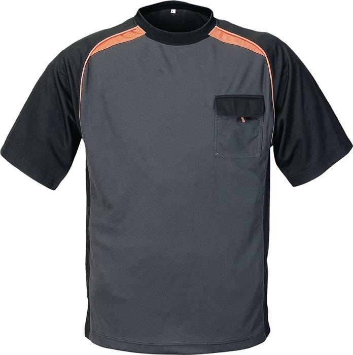T-shirt TerraTrend mt.XL donkergrijs/zwart/oranje 50%PES/50% Cool Dry