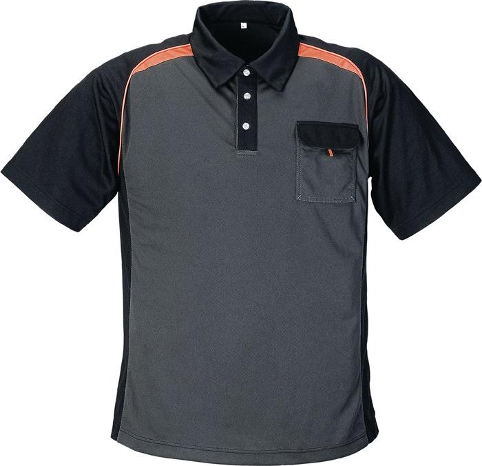 Poloshirt TerraTrend mt.xXL donkergrijs/zwart/oranje 50%PES/50% Cool Dry