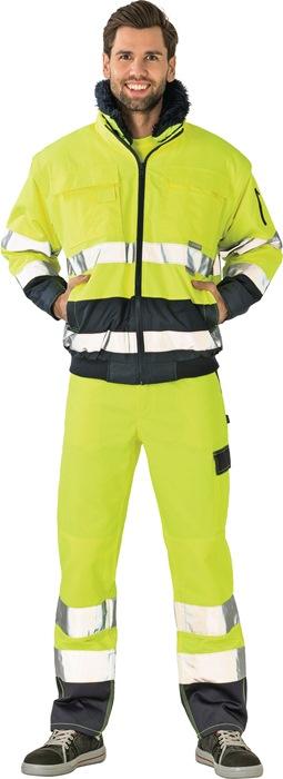 Veiligheidscomfortjack EN 471 EN343 DINENISO6330 mt.XL geel/marine 100%PES