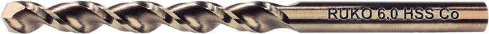 Spiraalboor DIN338 TL3000 D.4,4mm HSS-G Co5 RUKO