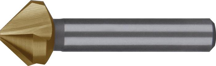 Conische ontbraam- en verzinkboor DIN335-C 90 graden D.31mm HSS TiN 3snijvlakken