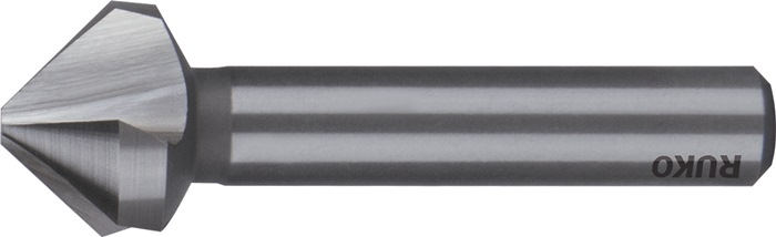 Conische ontbraam- en verzinkboor vorm C 75 graden d.20,5mm HSS 3sneden RUKO