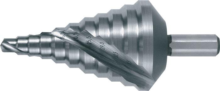 Getrapte boor d.6,5-40,5mm HSS RUKO