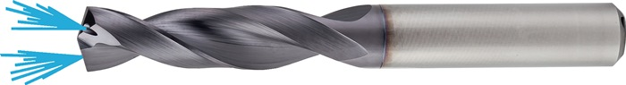 Spiraalboor DIN 6537 d.10,8mm VHM TiAlN IK 4xD schachtvorm HA PROMAT