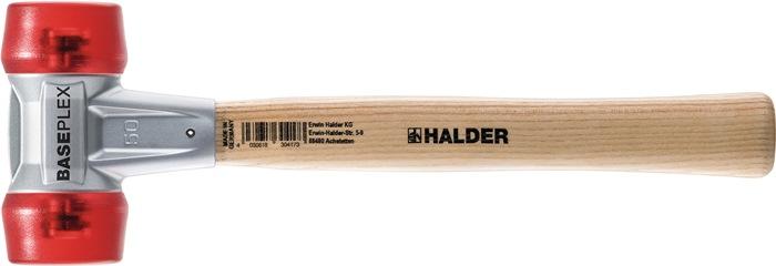 KS hamer baseplex l280mm kop-d. 30mm 360g rood - cellacet. m.hout steel