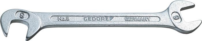 Dubbele steeksleutel SW 14mm klein chroom chroom-vanadium GEDORE