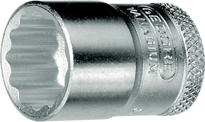 Steeksleutelbit DIN3124 ISO2725-1 3/8 inch UD-profiel SW21mm chroom-vanadium
