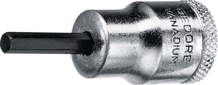Steeksleutelbit DIN 7422 3/4inch zeskant SW 4mm chroom speciaal staal GEDORE