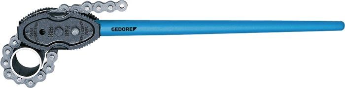 Kettingpijptang 122002 blauw gemoffeld temperstaal GEDORE